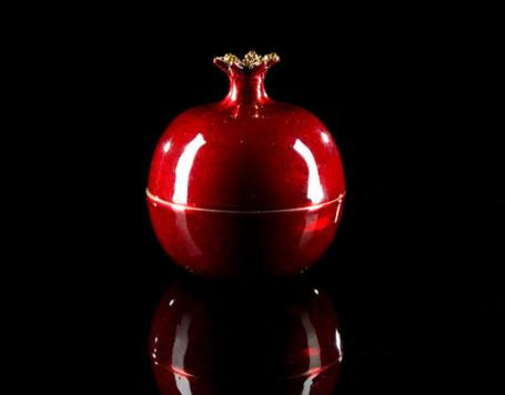 Pomegranate with Swarkovski Crystal Stem Candle design by DL & Co.